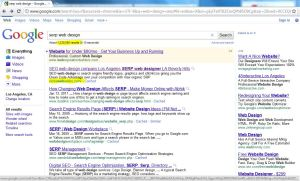 Nicks Web Works #1 ORGANIC Google SERP